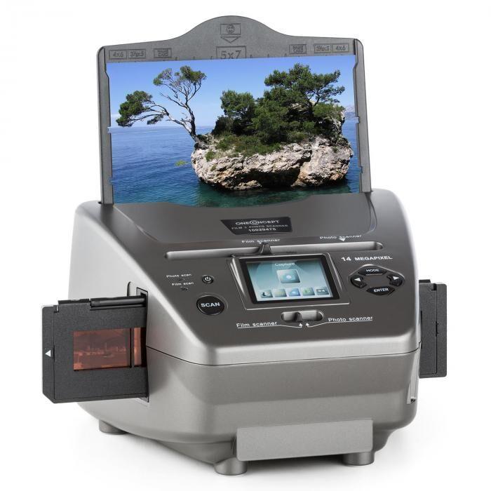 OneConcept 979GY Combo Scanner de photos diapo 14MP SD USB