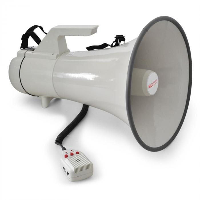 Auna Mégaphone Porte Voix 45W 1,5km Enregistrement