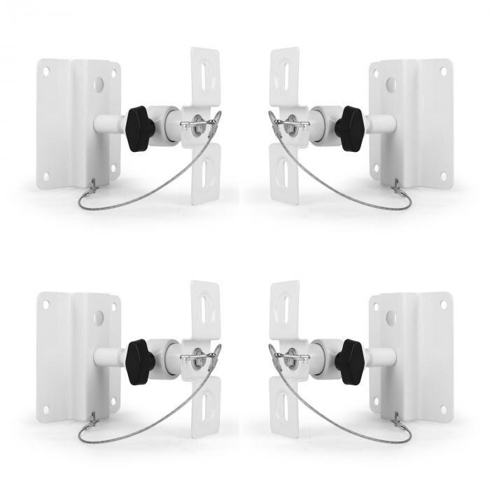 LUA SB-01 Set de 4 supports pour enceintes mur/plafond <10kg blanc