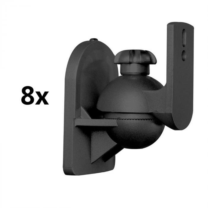 LUA SB-28 Set de 8 supports pour enceintes hifi <3,5kg noir