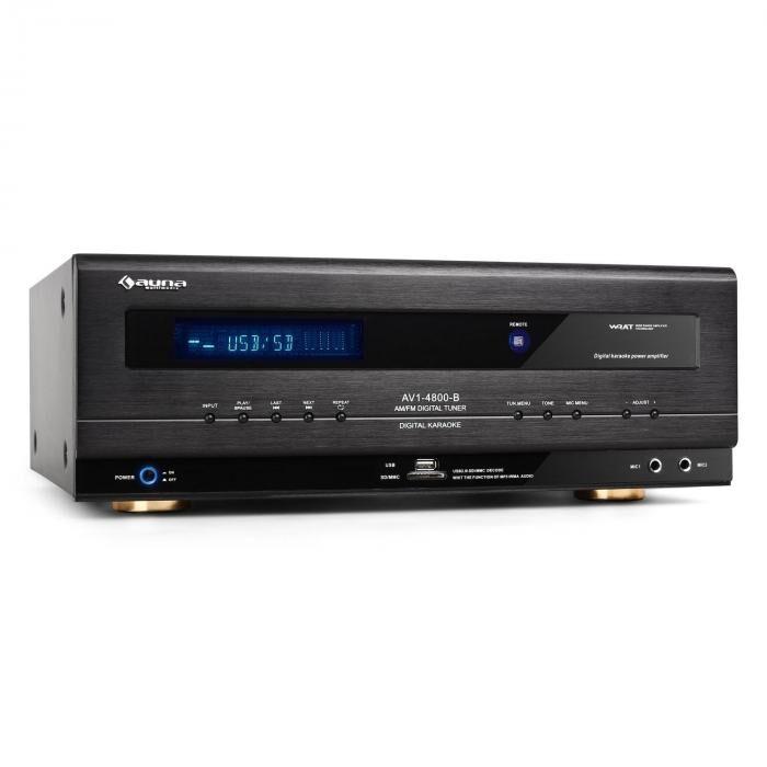 Auna AVI-4800 Ampli Hifi récepteur surround USB SD MP3 1000W max.