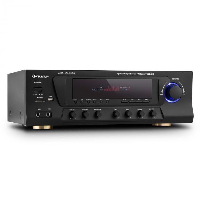 Auna AMP-3800 USB Ampli surround 5.1 canaux 600W max. USB SD FM - noir