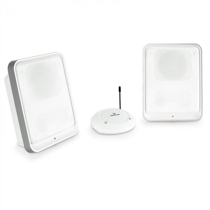 Auna Loft Enceinte sans fil 2 canaux système UHF -blanc