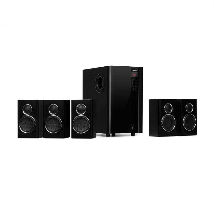 Auna Areal Touch Système d'enceintes 5.1 200W Subwoofer OneSide Bluetooth USB SD