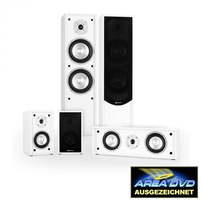 Auna Linie-300-WH 5.0 Soundsystem Home Cinema 265W RMS blanc