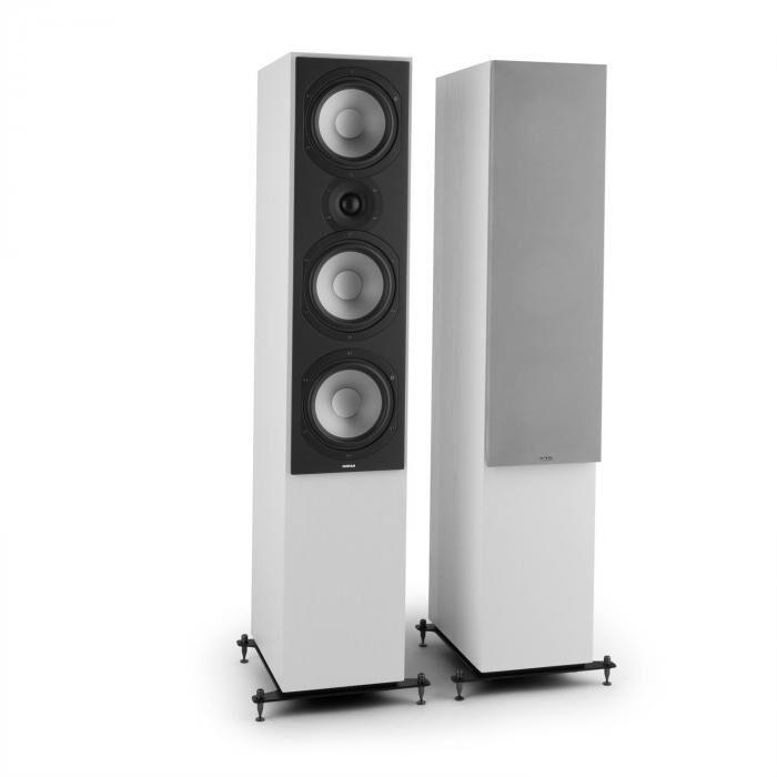 Numan Reference 801 – Paire haut-parleurs colonne trois voies blanc protection argent