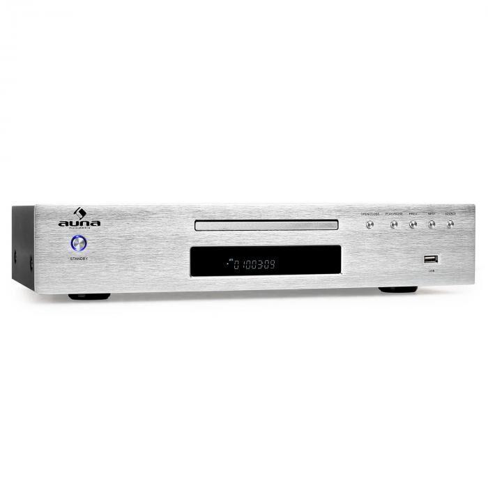 Auna AV2-CD509 Lecteur MP3 CD USB & récepteur radio - argent