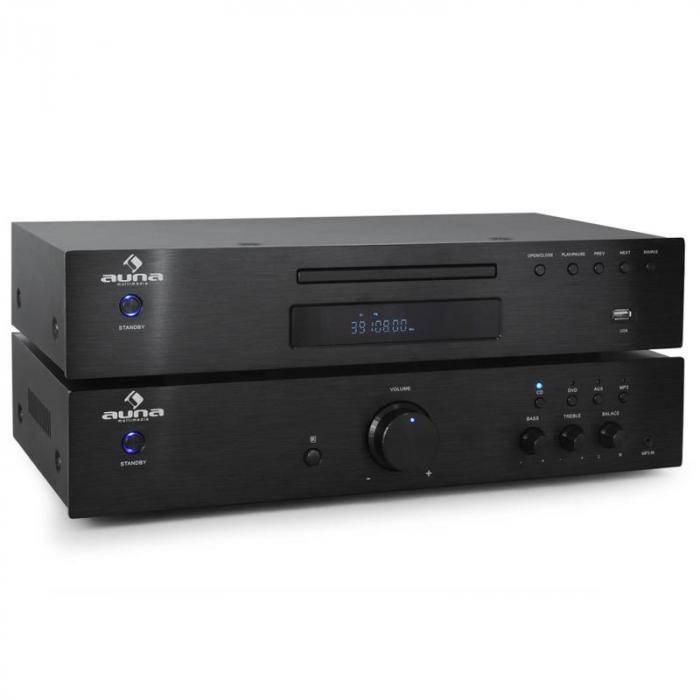 Auna Ensemble HiFi 2.0 Auna Elegance Tower Lecteur CD 600W