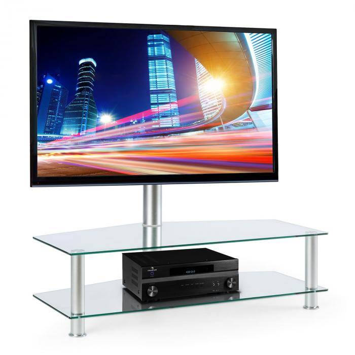 Electronic-Star Support TV Pied verre et aluminium