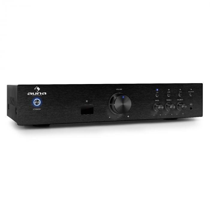 Auna AV2-CD508BT Ampli HiFi AUX Bluetooth -noir