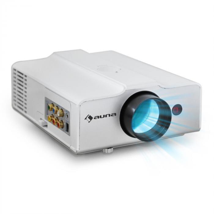 Auna EH3WS Videoprojecteur LED compact entrée HDMI VGA -blanc