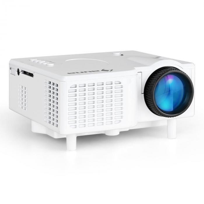 Auna Mini videoprojecteur LED avec entrées VGA & AV - blanc