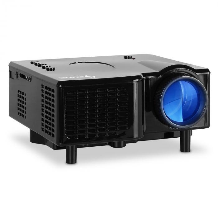 Auna Klarstein Mini videoprojecteur LED VGA AV - noir