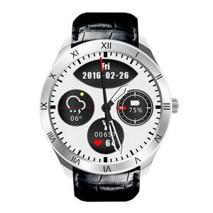 YONIS Montre Connectée Android 5.1 iOS Bluetooth 4.0 Téléphone Bracelet Cuir Écran OLED 1.39 Pouces Argent - Publicité