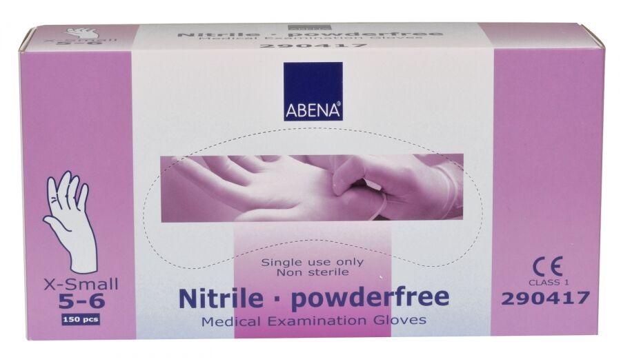 Abena-Frantex Gants nitrile sans poudre Taille 5-6 (Extra Small)