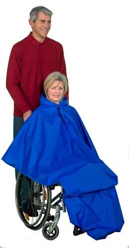 solaise vêtement de pluie long pour fauteuil roulant
