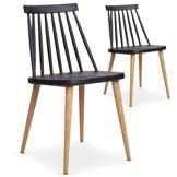 Lot de 2 chaises scandinaves Trouville Noir