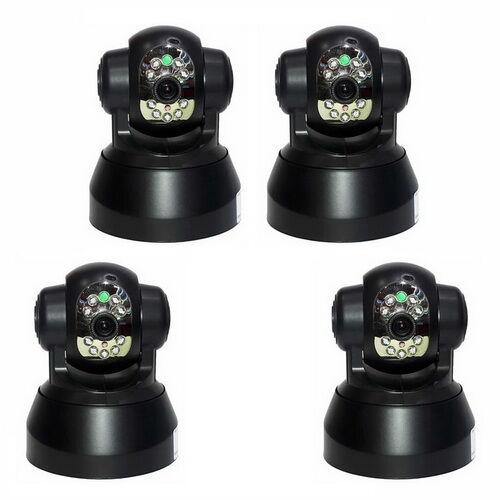 SecuriteGoodDeal Kit 4 cameras IP plug and play, WIFI et motorisees