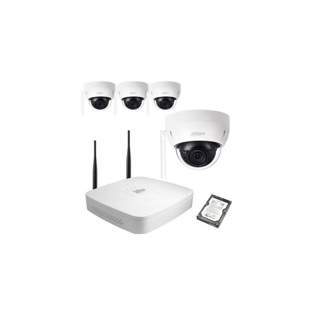 DAHUA Kit video wifi dahua 4 domes 3mp