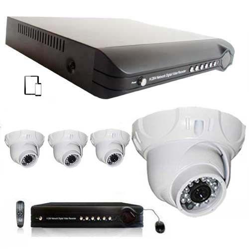 SecuriteGoodDeal Kit vidéosurveillance 4 dômes blancs CCD Sony 700L