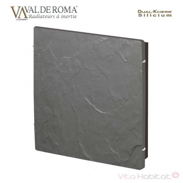 VALDEROMA Radiateur à inertie Wifi Ardoise Noire 800W Carré - Valderoma AN0800W