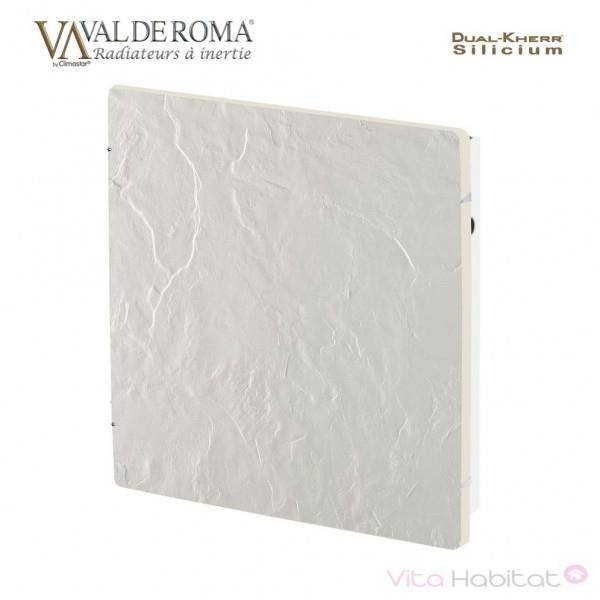 VALDEROMA Radiateur à inertie Wifi Ardoise Blanche 800W Carré - Valderoma AB0800W