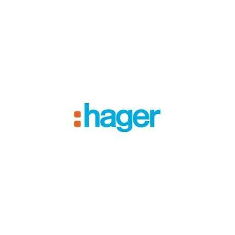 HAGER ess. Prise Téléphone T Titane HAGER WE200T