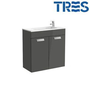 ROCA Ensemble meuble et lavabo Unik compact 2 portes 700mm Gris DEBBA - ROCA A855902153 - Publicité