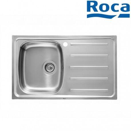 ROCA Évier pour installation sur meuble de 500 mm de large bac à gauche inox - ROCA A870H30801