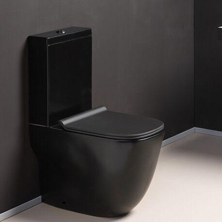 CRISTINA ONDYNA Bloc WC monobloc complet avec réservoir bas et abattant WILD BLACKMAT - CRISTINA ONDYNA WWL301313