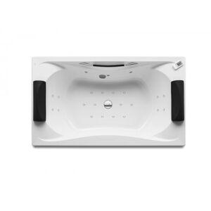ROCA Baignoire Balnéo Premium Biplace à encastrer avec deux appuie-tête amovibles 1900X1100 Blanc Be Cool - ROCA A248145001 - Publicité