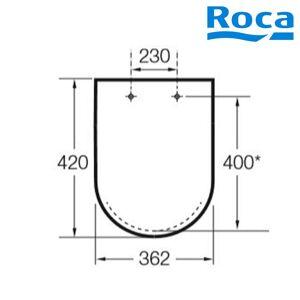 ROCA Abattant Double Wc Compact Blanc - MERIDIAN ROCA - A8012AB00B - Publicité