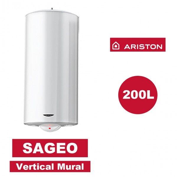 ARISTON Chauffe-eau électrique vertical mural Sagéo 200 l - Ø 560 mm - ARISTON 3000334