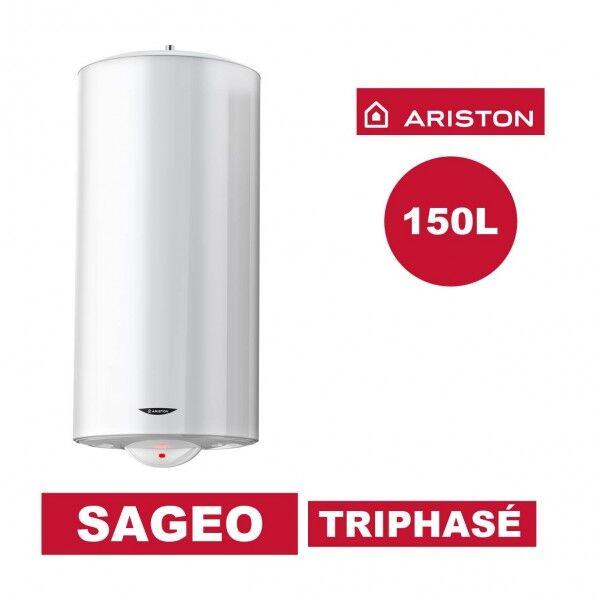 ARISTON Chauffe-eau électrique vertical mural Sagéo 150 l - Ø 560 mm -Triphasé - ARISTON 3000358