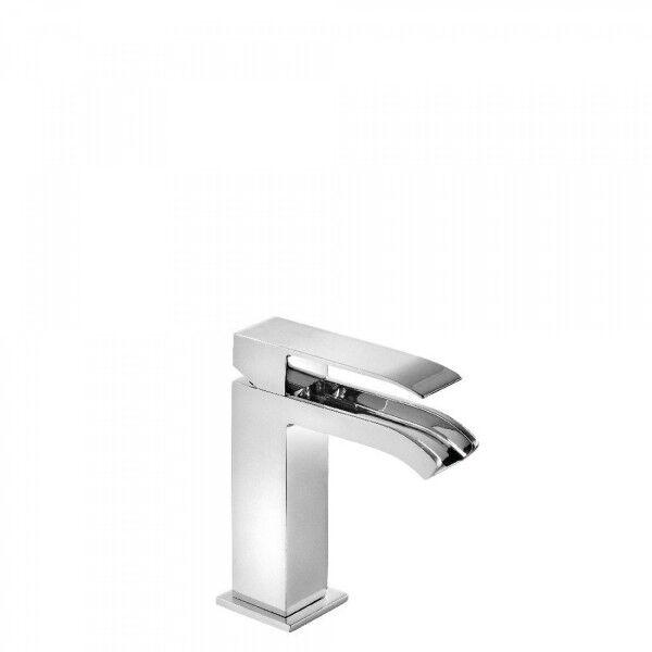 TRES Mitigeur lavabo robinet cascade bec ouvert avec vidage automatique - TRES 00611001D