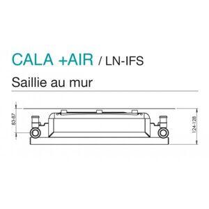 ACOVA Sèche-serviette soufflant ACOVA - CALA + AIR Chromé 1578W (578W+1000W) LNO-172-050-IFS - Publicité