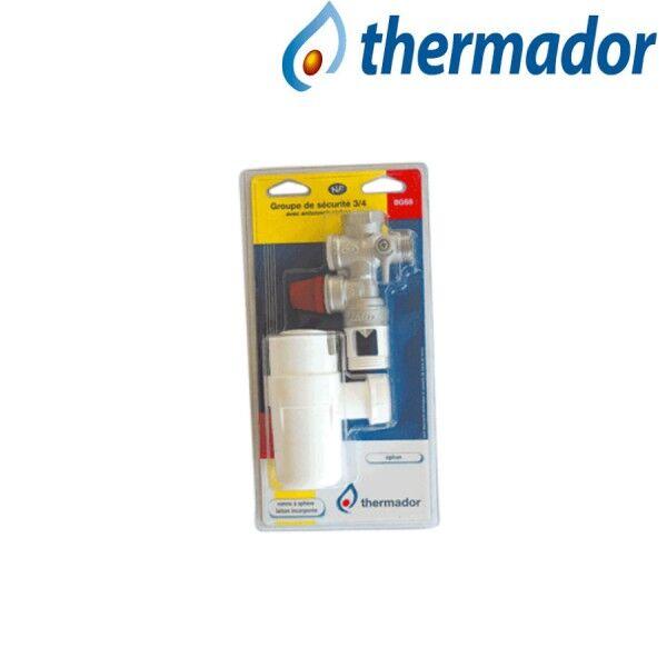 THERMADOR Kit chauffe-eau groupe de sécurité + siphon + 2 flexibles inox + évacuation - THERMADOR BKCE
