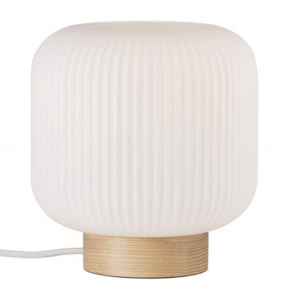 NORDLUX MILFORD lampe de table Verre-Bois Nature Marron E27 - Nordlux 48915001
