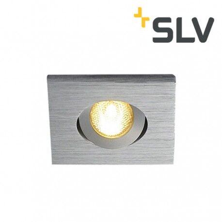 Slv Lumière Encastré Orientable Kit Tria Mini Led Carré Alu Brossé Slv 114406