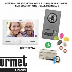 URMET Interphone video URMET KIT NOTE 2 Callme - contrôle d'accès - 1723/71W - Publicité