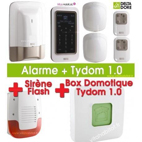 DELTA DORE Pack Alarme / Domotique TYXAL PLUS avec Tydom 1.0 et sirène extérieure Delta Dore - 6410176 + 6700103