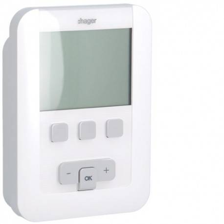HAGER TAP digital 2 fils 7J - GEST CHAUF EAU CH HAGER EK520