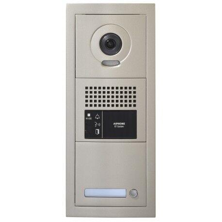 AIPHONE Platine de rue 1 bouton GT vidéo modulaire 1 x 3 modules sans boucle magnétique GTBVH1PSBM - Aiphone 200293