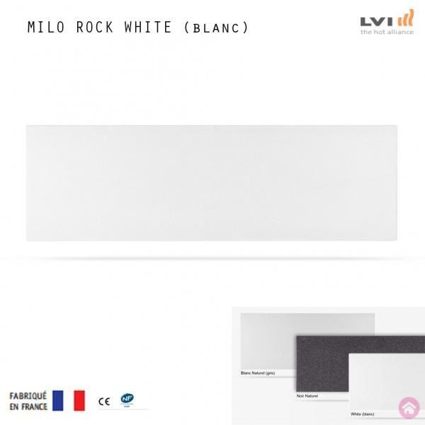 LVI Radiateur electrique MILO Rock Plinthe (haut.250) BLANC WHITE 750W - LVI 2025182