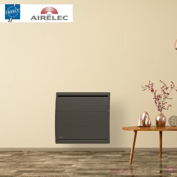 AIRELEC Radiateur electrique Fonte AIRELEC - AIREVO Smart ECOcontrol 750W Horizontal Anthracite - A693452