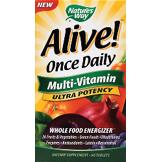 alive once daily multi-vitamin ultra potency 60 comprimés