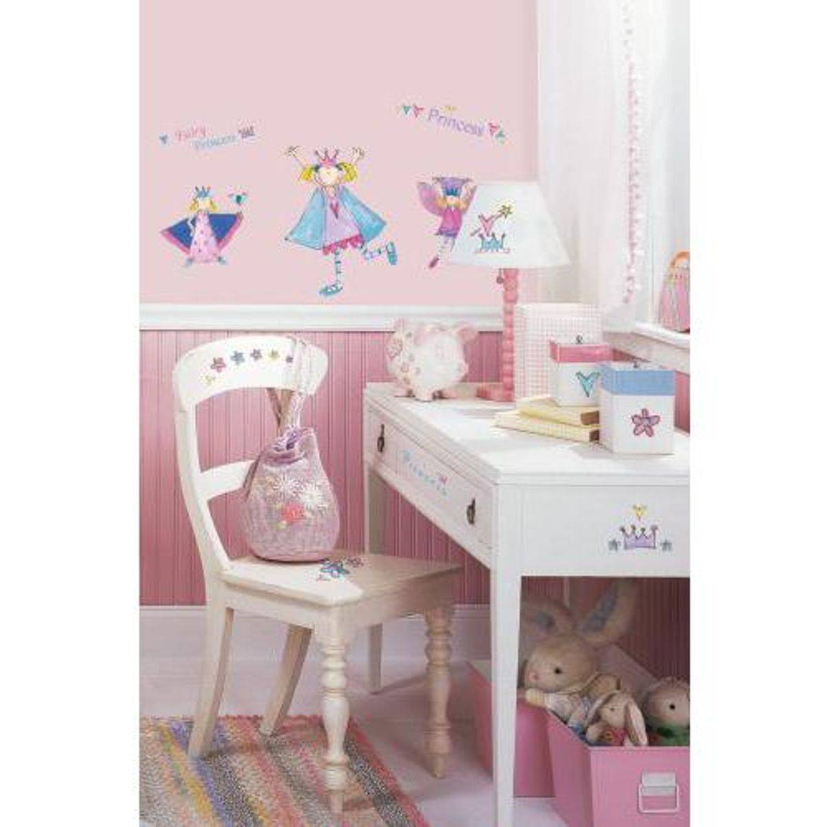 TheDecoFactory PRINCESSES FÉES AMUSANTES - Stickers repositionnables petites princesses fées amusantes Multicolore