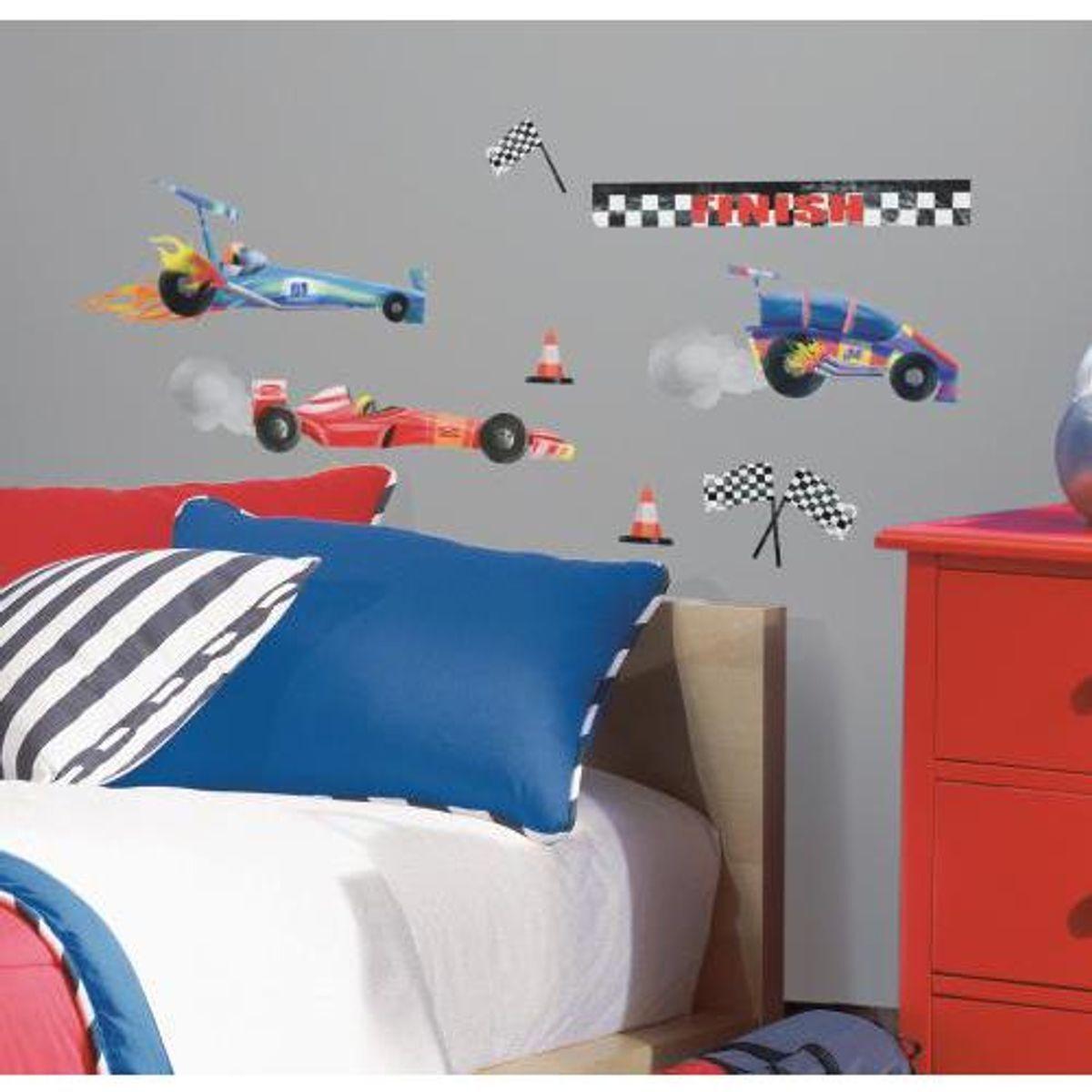 TheDecoFactory VOITURES DE COURSE - Stickers repositionnables sur le thème des voitures de course Multicolore