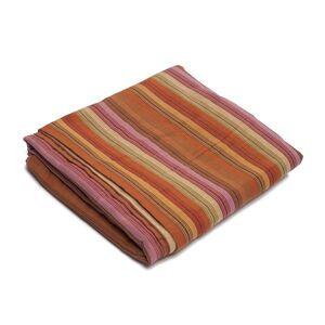 TheDecoFactory RIVA - Plaid en coton tissé à rayures multicolores 180x180 Multicolore