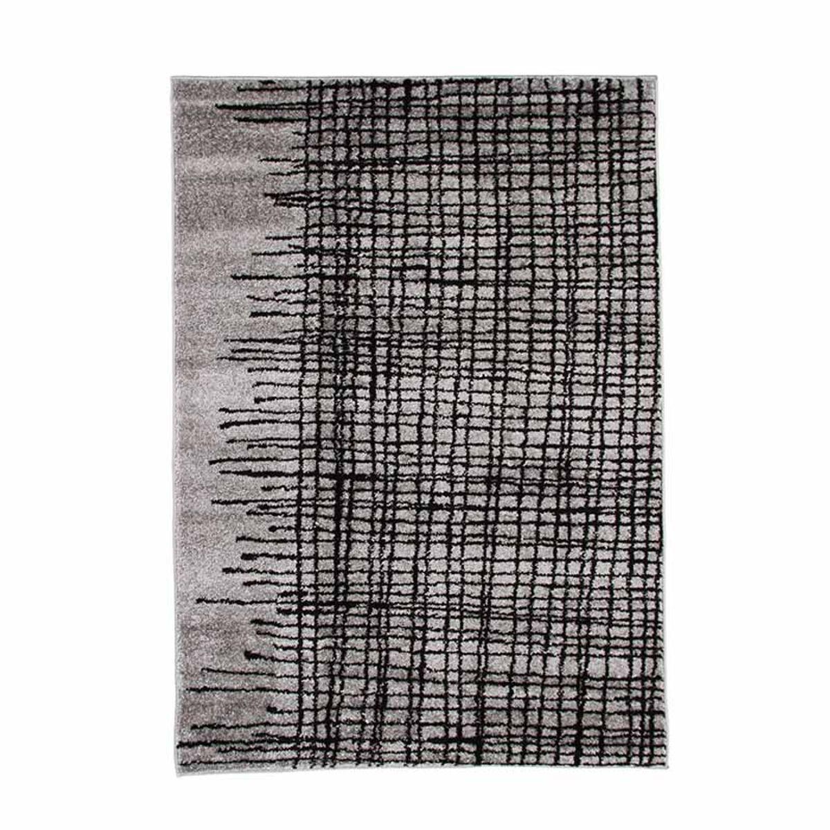 TheDecoFactory ABSTRACT - Tapis poils courts imprimé lignes croisées gris 120x170 Gris